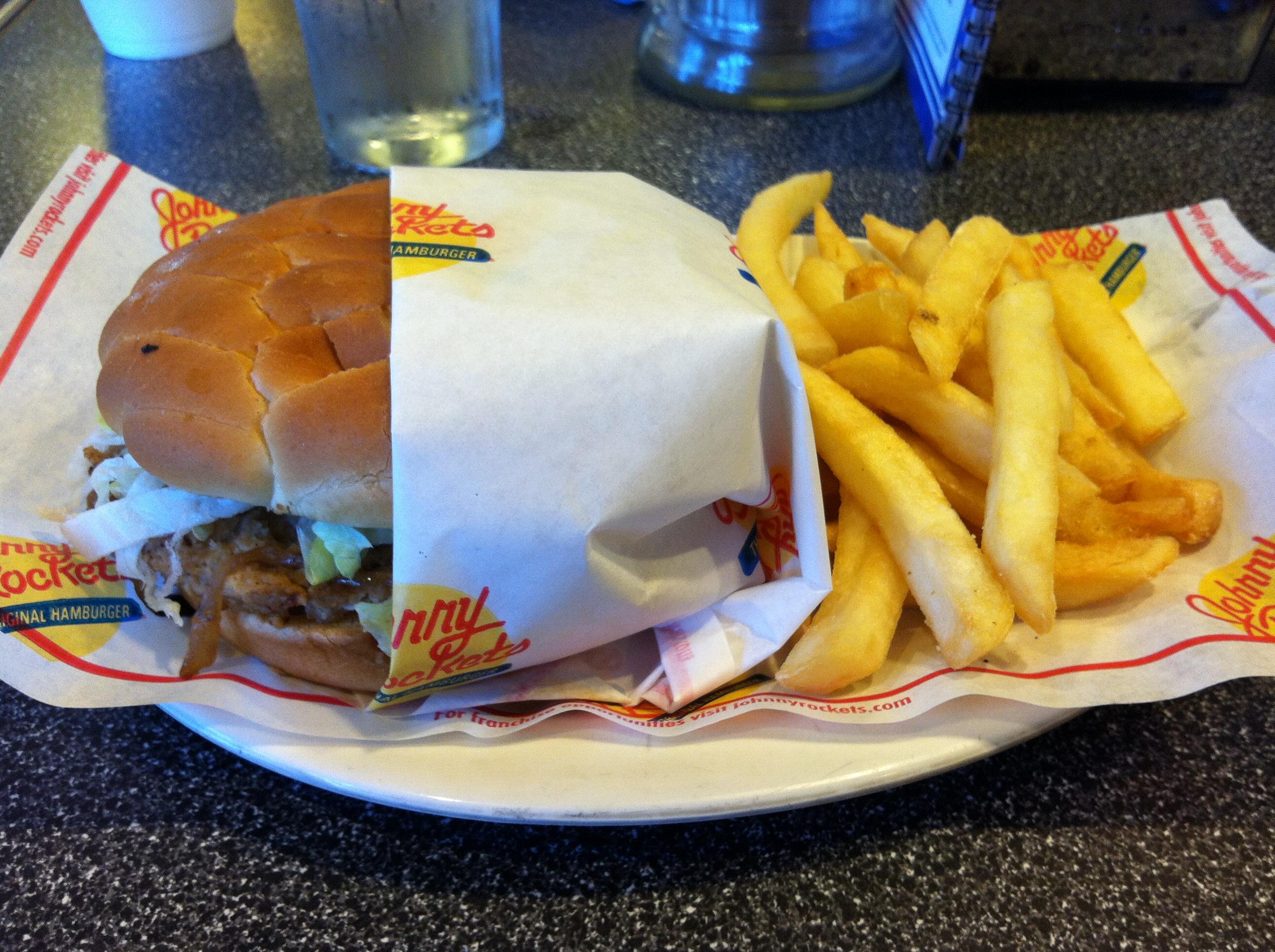 johnny rockets veggie burger review the streamliner vegan burger