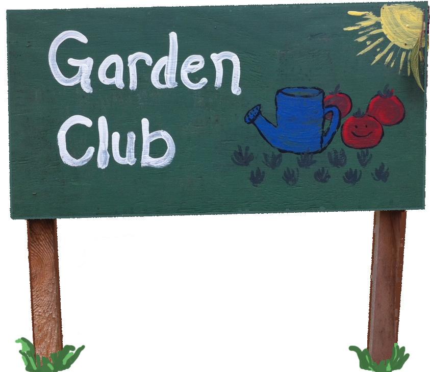 Garden Club Sign