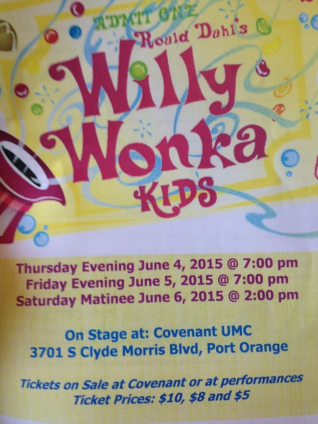 Willy Wonka Kids Performance in Port Orange (2015)