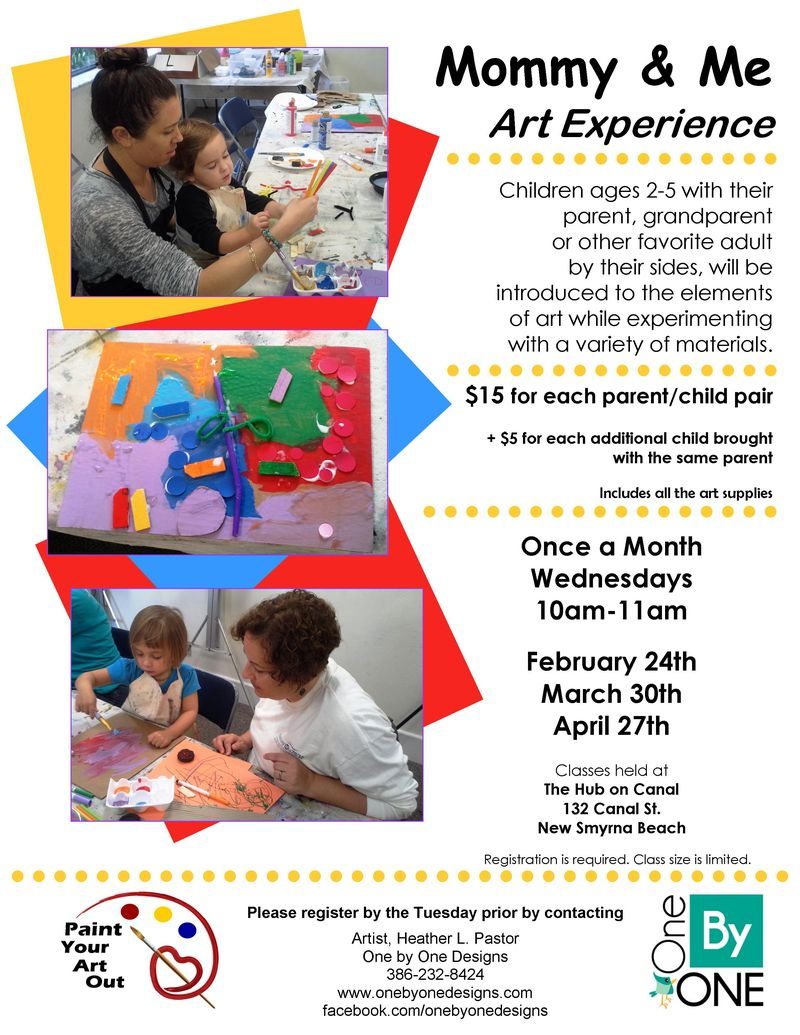 Mommy And Me Art Experience March 30 And April 27 2016 Volusia