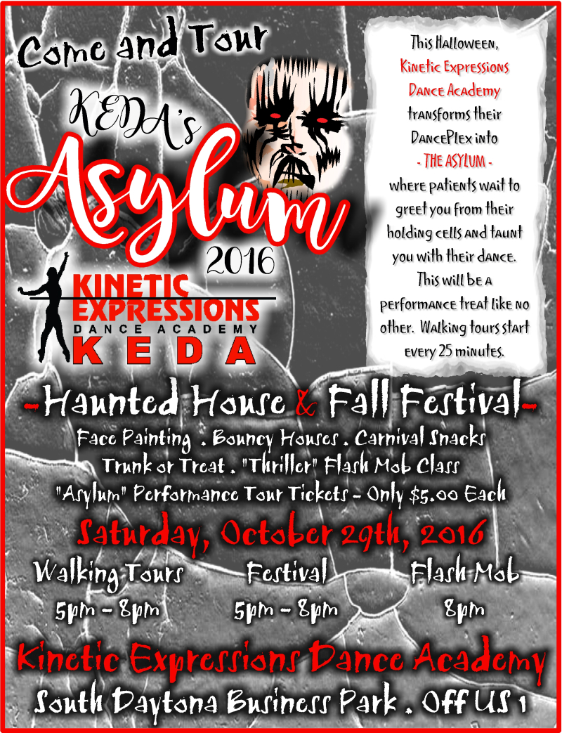 Flyer, KEDA's Asylum Halloween 10-16 REVISED