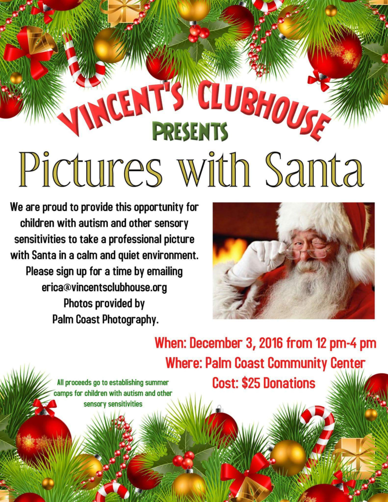Sensory Sensitive Pictures With Santa In Palm Coast December 3
