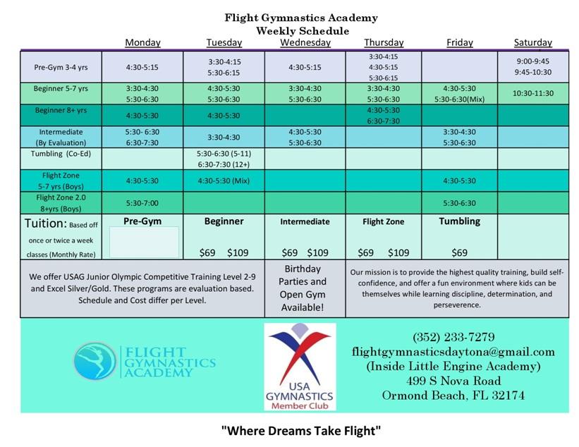 Flight Gymnastics Academy in Ormond Beach Try a class for FREE