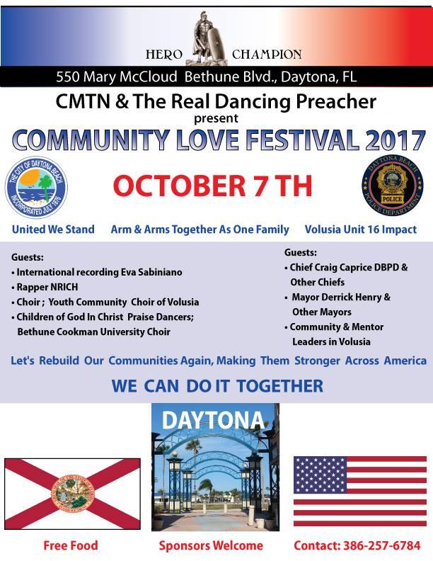 Community Love Festival 2017 In Daytona Beach October 7