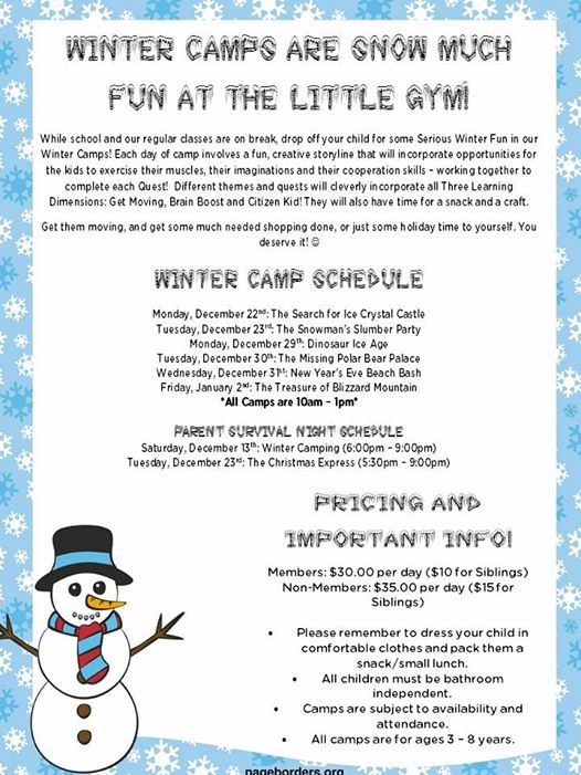 Winter Camps at The Little Gym of Port Orange (2014)