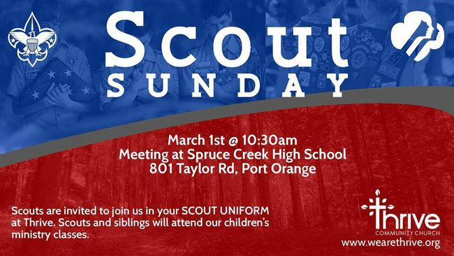 Scout Sunday at Thrive Community Church in Port Orange (2015)