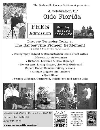 A Celebration of Olde Florida at the Barberville Pioneer Settlement (2015)