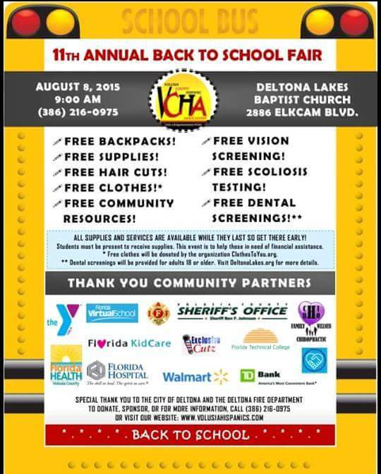Free Backpack and School Supplies in Volusia County (2015