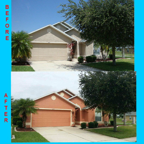 My house painting before and after pictures!