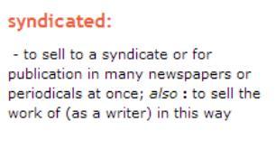Syndicateddefinition