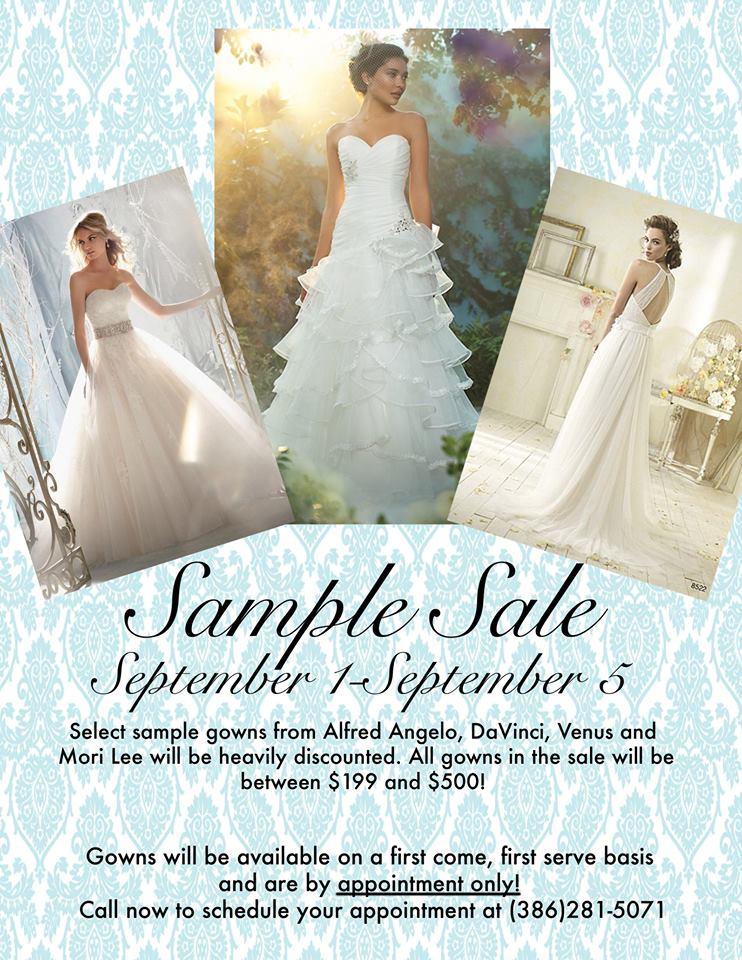 Wedding Gown Sample Sale in Daytona Beach (2015) - Volusia County Moms