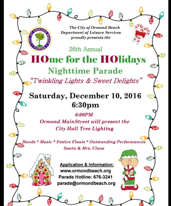 City Of Ormond Beach Christmas Parade 2020 City of Ormond Beach Holiday Parade   December 10, 2016   Volusia