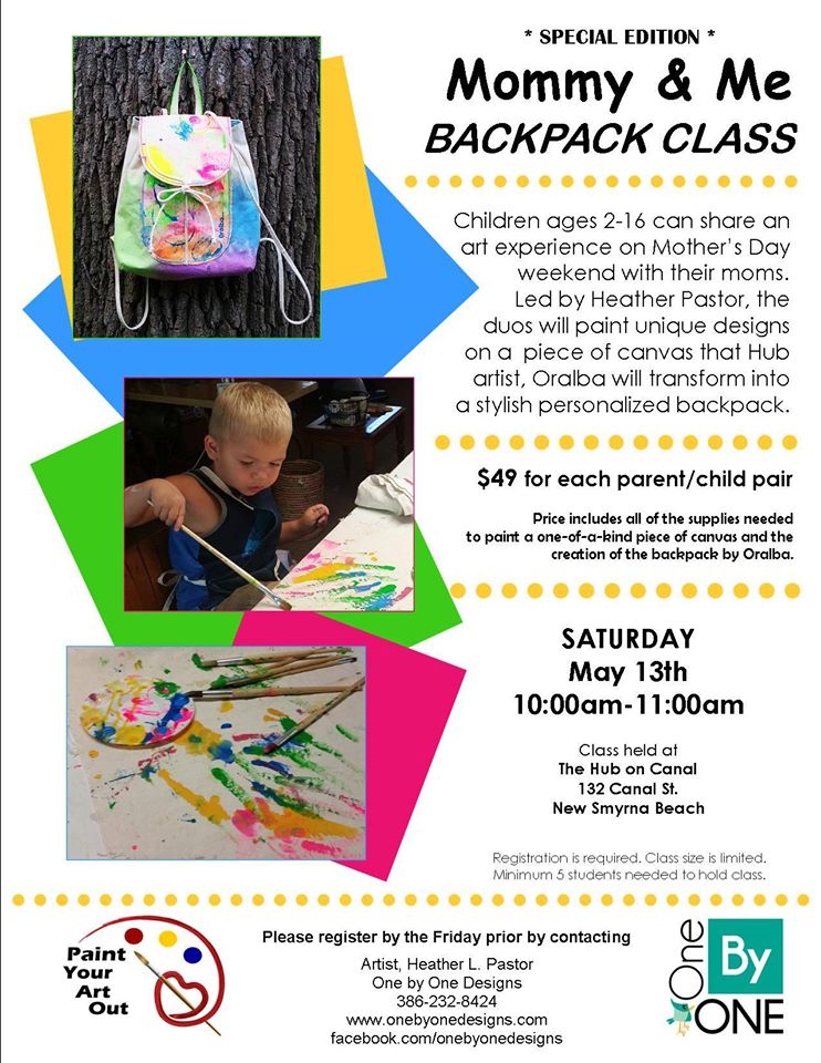 Mommy & Me Backpack Class - May 13, 2017 - Volusia County Moms