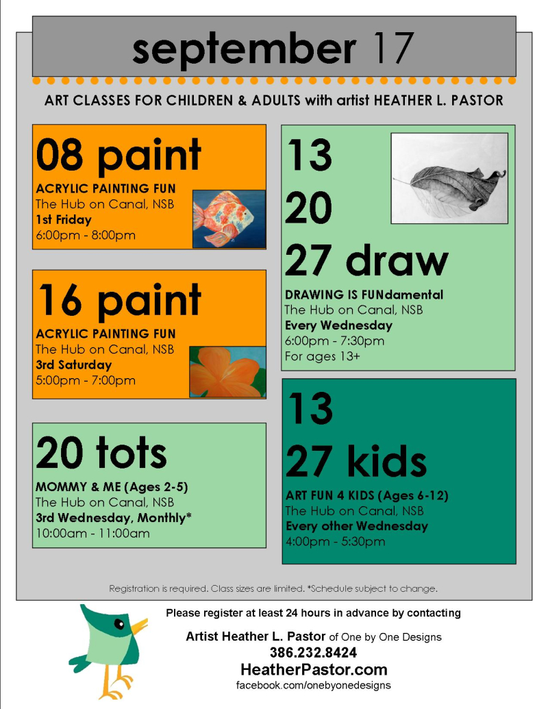 Art Classes HPastor flyer Sept 2017