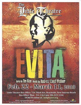 Evita At The Little Theatre Of New Smyrna Beach Volusia County Moms