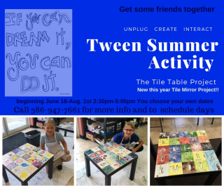 Tween Summer Activity plus mirror 2018