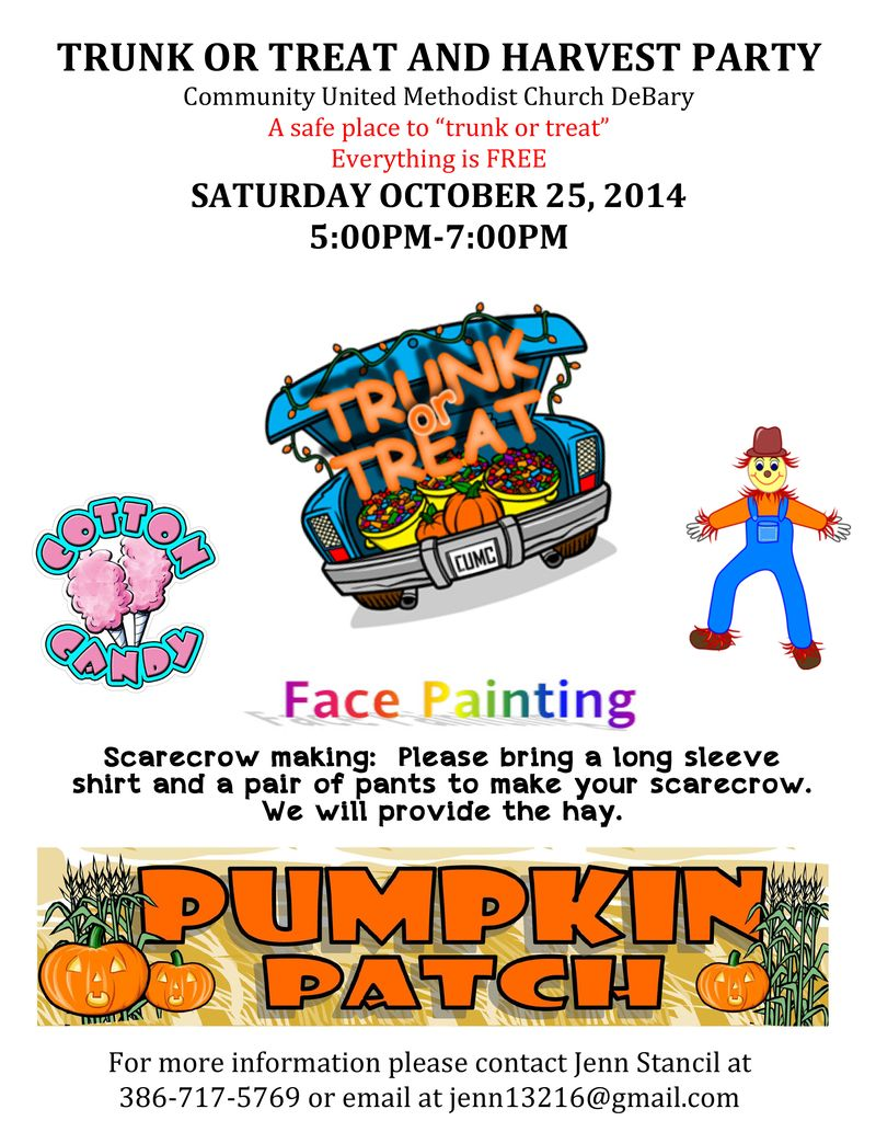 Trunk or treat flyer 2015 free