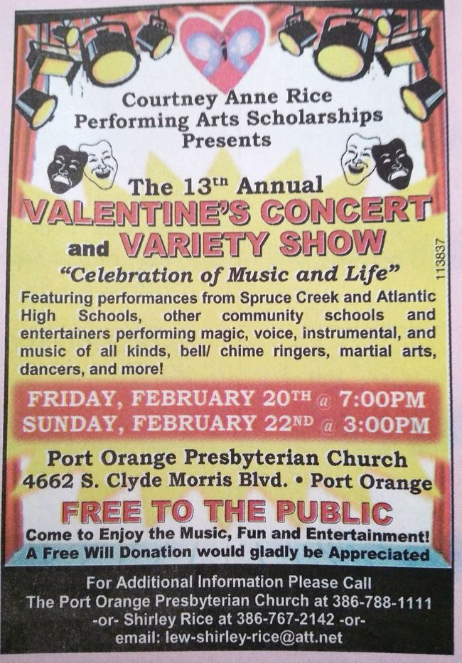 Valentine's Concert and Variety Show in Port Orange (2015)