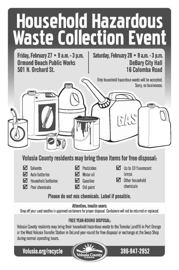 Household Hazardous Waste Collection Event in Volusia County (2015)