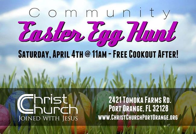 Community Easter Egg Hunt and Cookout in Port Orange (2015)