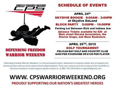 Defending Freedom Warrior Weekend Block Party in DeLand (2015)
