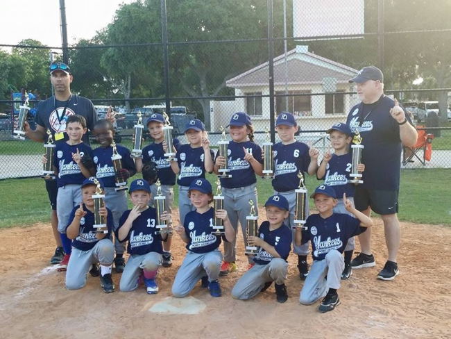 Kudos to the Port Orange Rookie Yankees Team, and a Thank You to the Coaches!