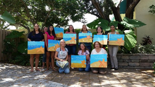 VCM Painting Event Recap - Painting party in New Smyrna Beach
