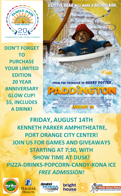 Free Outdoor Family Movie Night in Port Orange - Paddington - (2015)