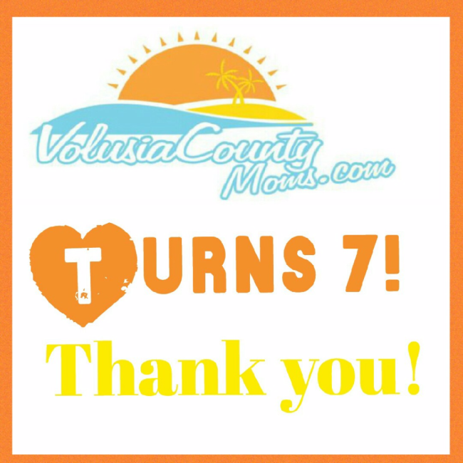 Volusia County Moms turns 7 years old!