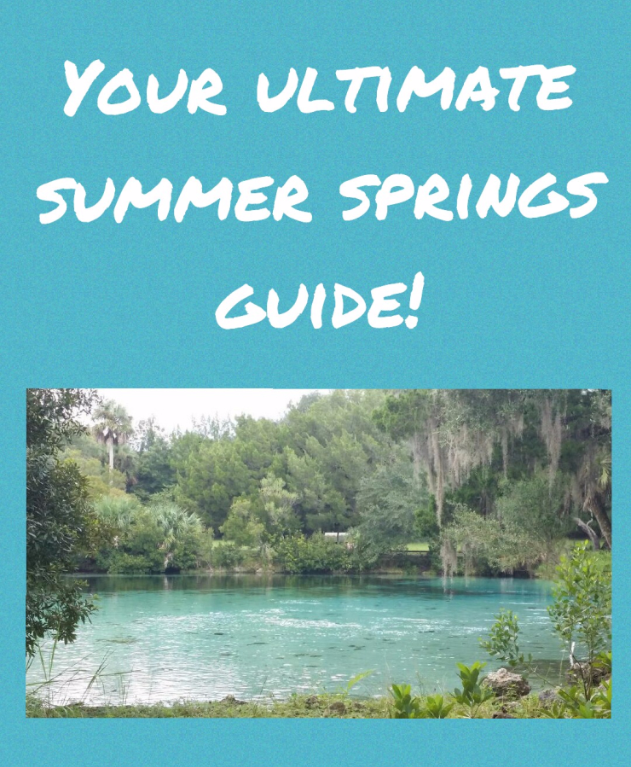 Your Ultimate Summer Springs Guide! Springs you don't want to miss!