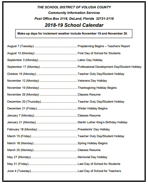 Volusia-county-school-calendar-2018
