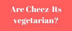 Cheez-it-vegetarian