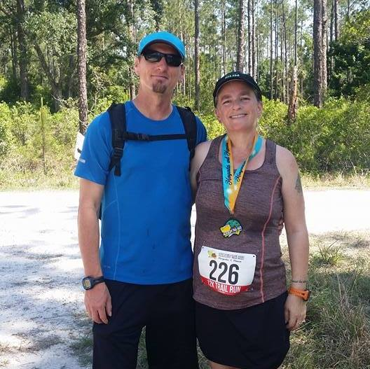 My Palm Bluff Trail Race experience, running water bottles
