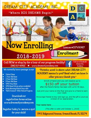 DCA_Now Enrolling Flyer_2018