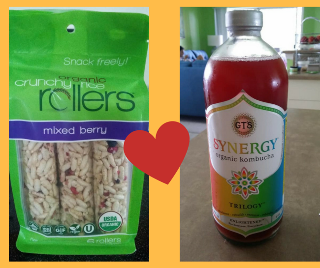 My two new loves... and why! Rice Rollers and GT's Organic Kombucha