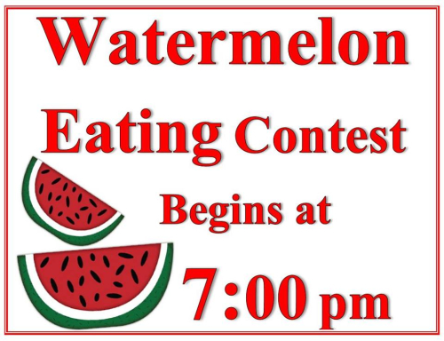Watermelon-eating-contest