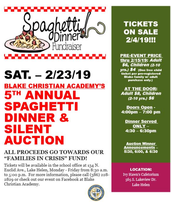 Spaghetti-fundraiser