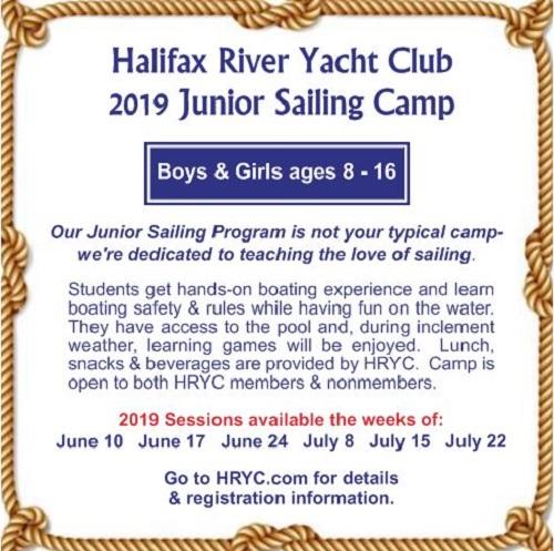 HRYC 2019 Summer Sail Camp