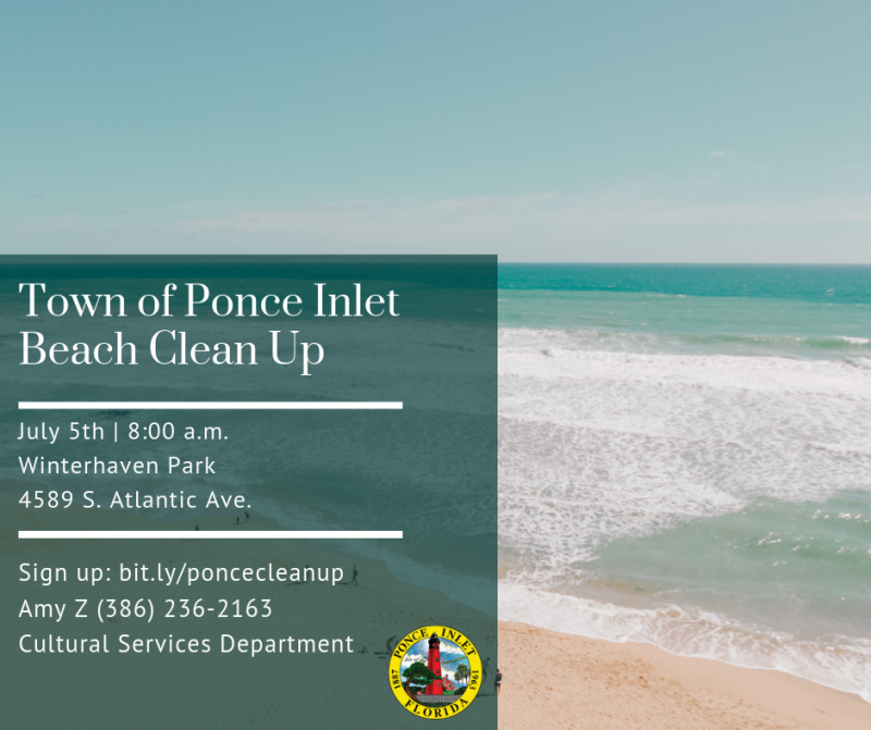 Town of Ponce Inlet Beach Clean Up
