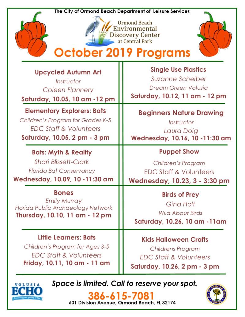 October 2019 Programs