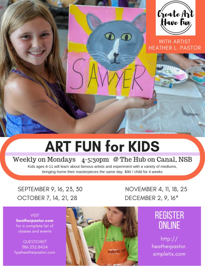 Art Fun 4 Kids - Fall 2019 dates