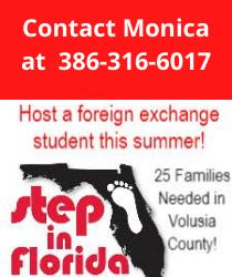 Contact Monica at 386-316-6017