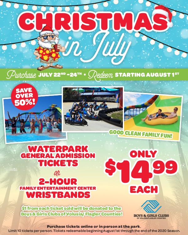 Daytona Christmas 2020 Christmas in July at Daytona Lagoon   Volusia County Moms