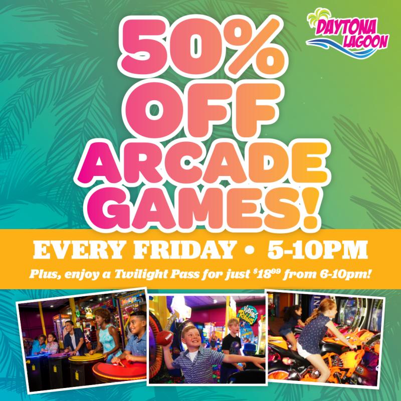 DL Half Off Arcade Games 2021 Social Posting Art
