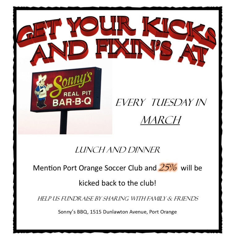 Sonnys BBQ March 2021 Flyer