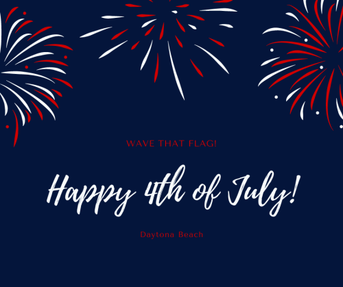 Blue Red White Fireworks Independence Day Greeting Fourth of July Facebook Post